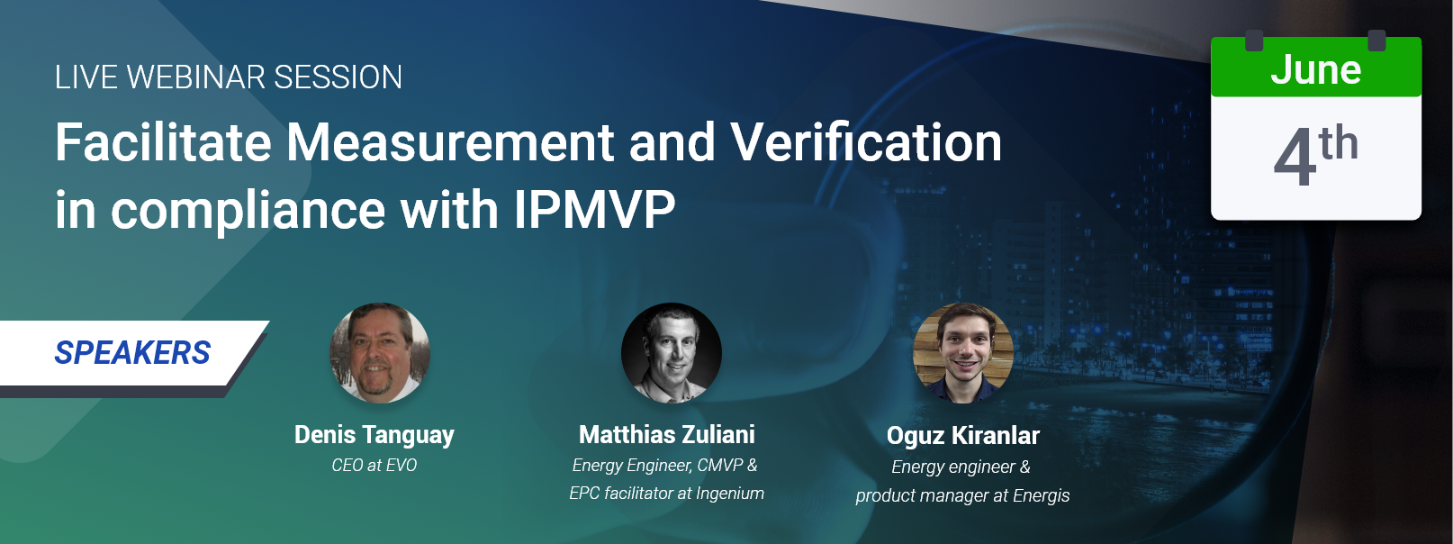 Webinar : facilitate M&V in compliance with IPMVP