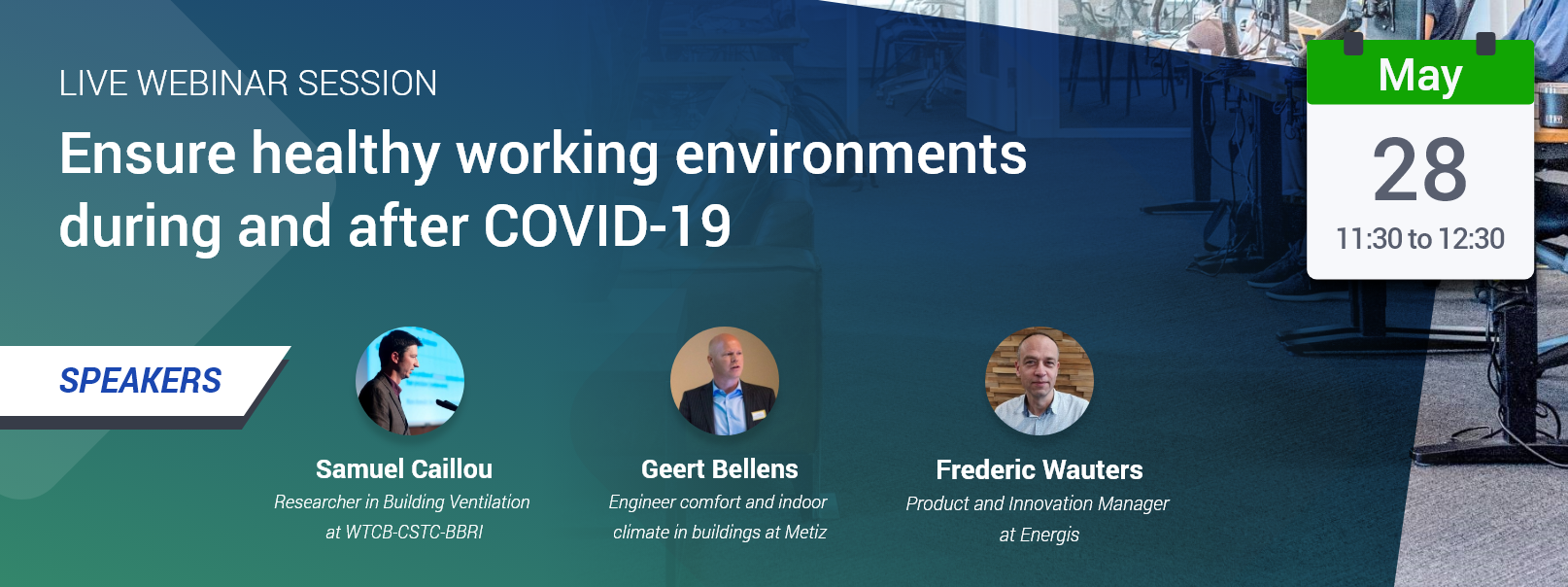 Webinar: ensure healthy buildings during and after COVID-19